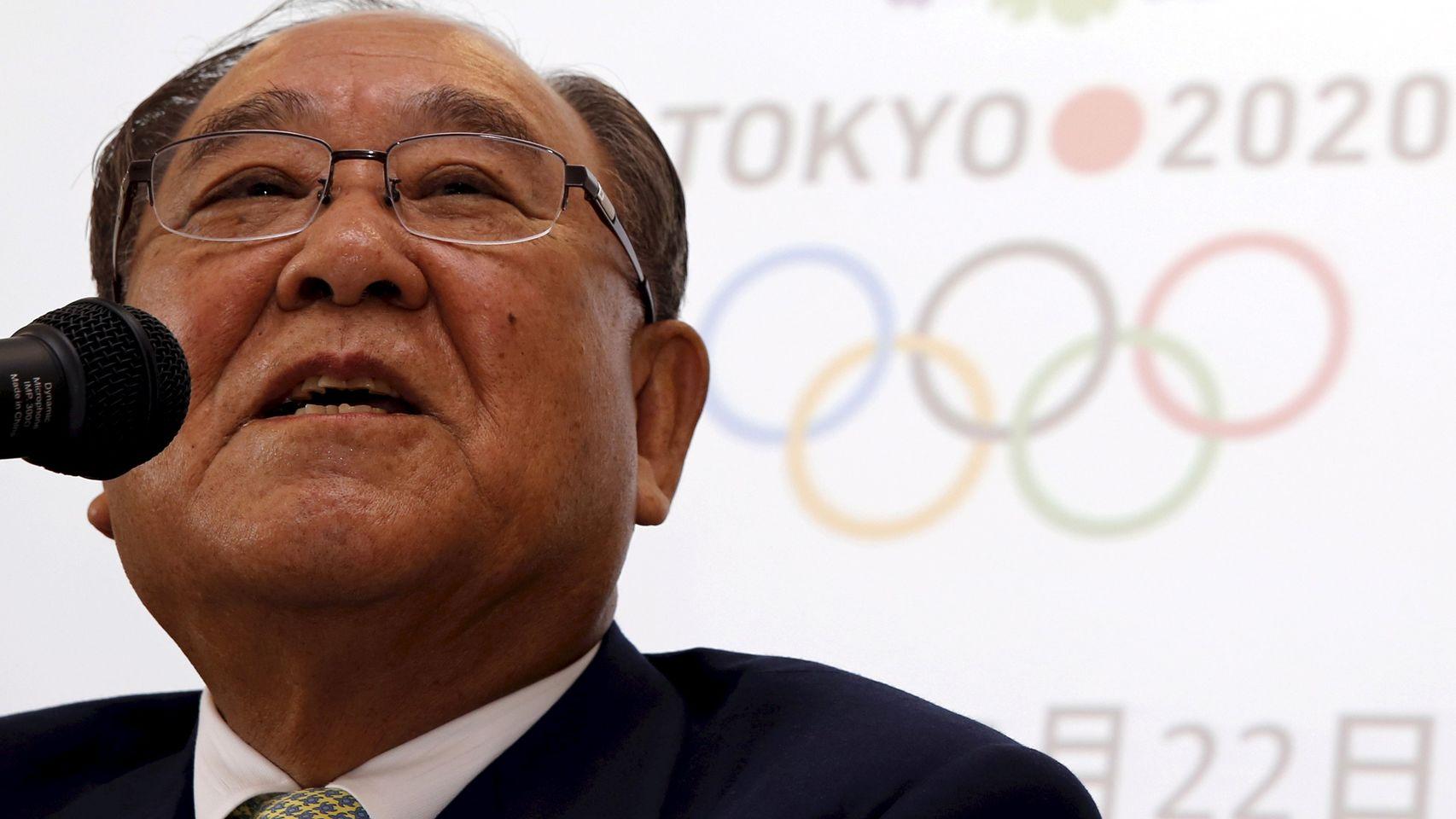 Fujio Miratai, Presidente de Tokyo 2020, durante el anuncio en rueda de prensa