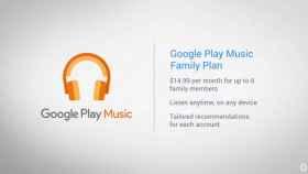 Google presenta su nuevo plan familiar para Google Play Music