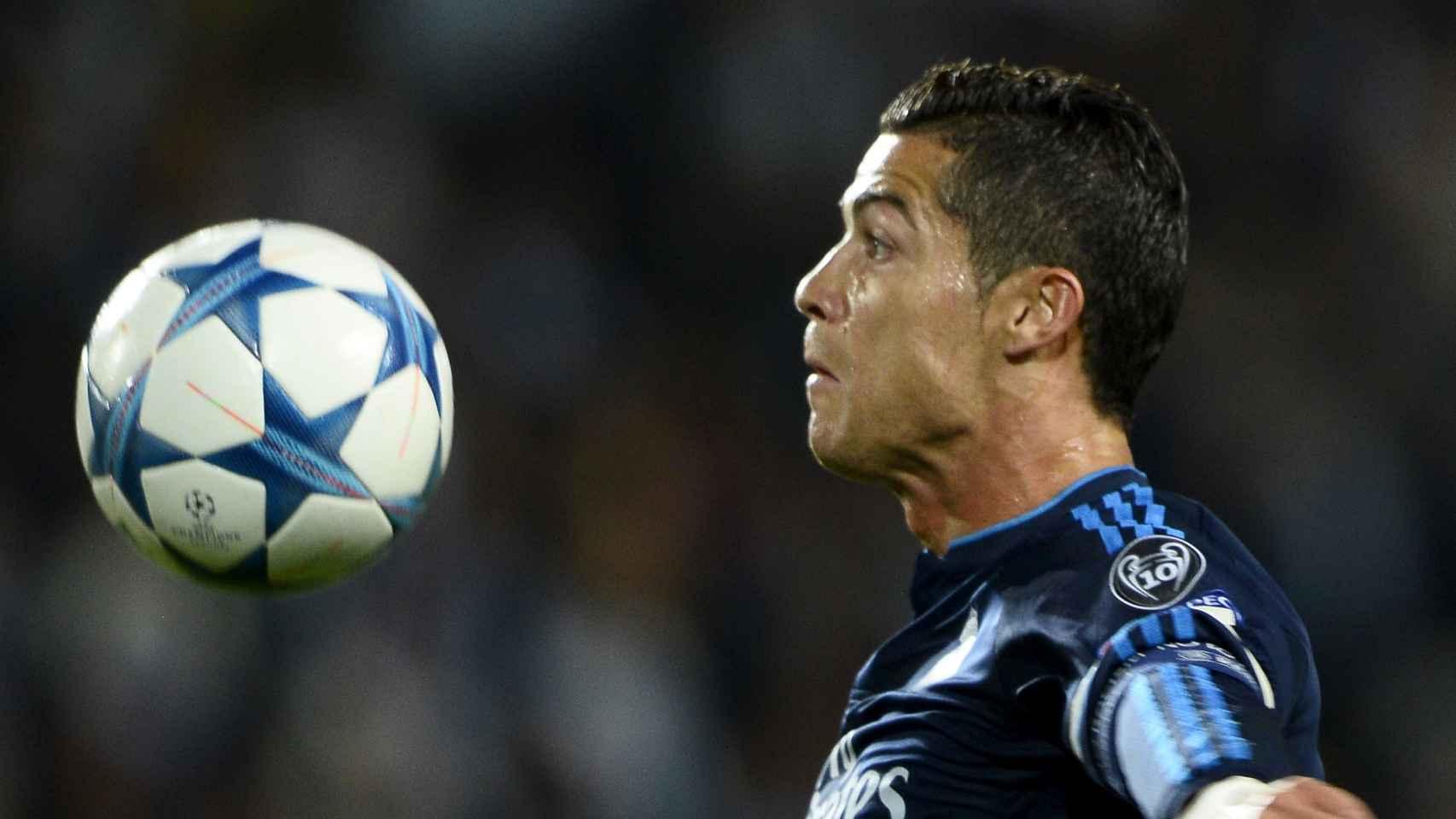 Cristiano Rolando durante el partido de Champions ante el Malmoe