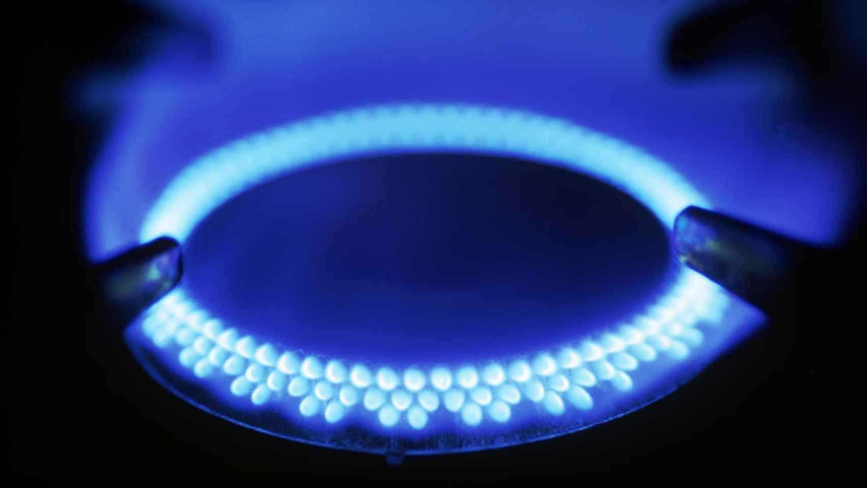 Imagen de un quemador de gas natural.