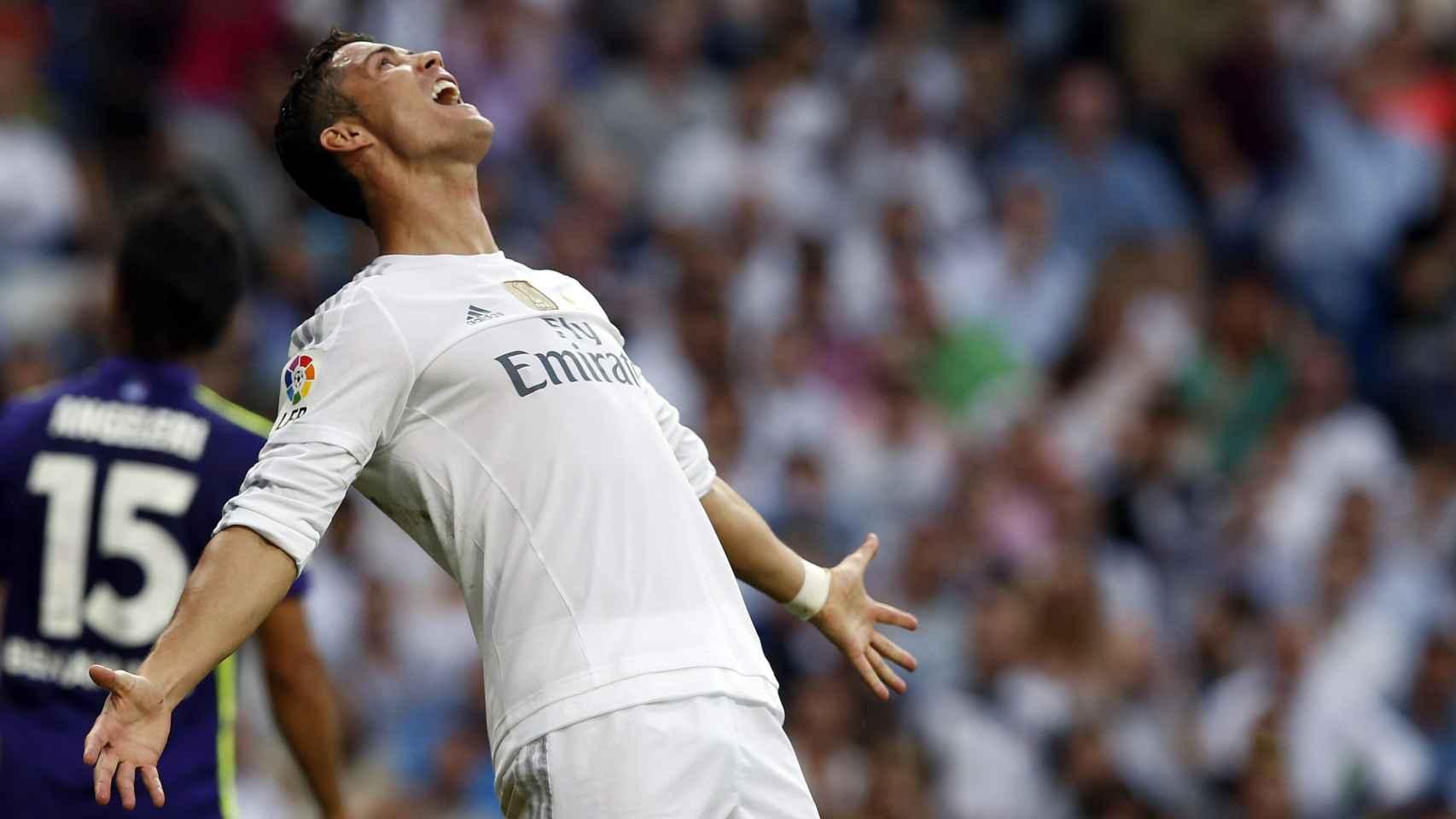 Cristiano Ronaldo durante un encuentro de Liga con el Real Madrid.