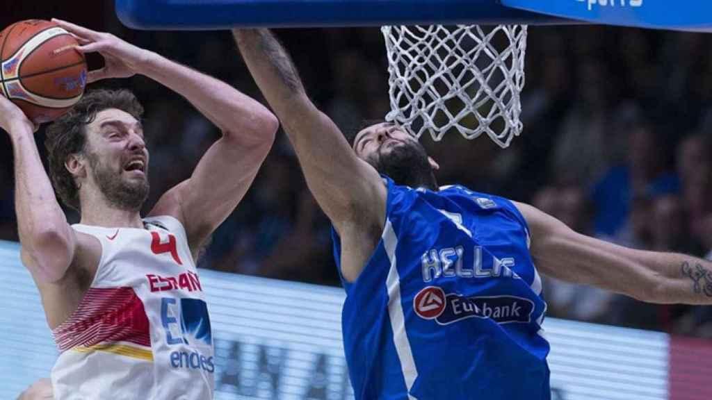 Pau Gasol durante el Eurobasket 2015 emitido por Cuatro