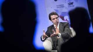 Aznar, en la conferencia que este lunes dio en la Casa de América en Madrid.