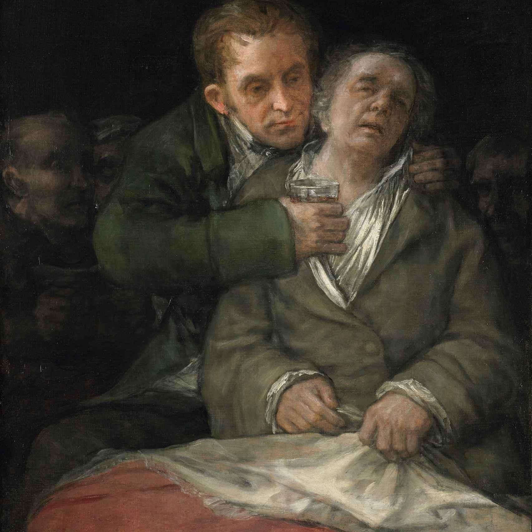 'Autorretrato con el doctor Arrieta' (1920)
