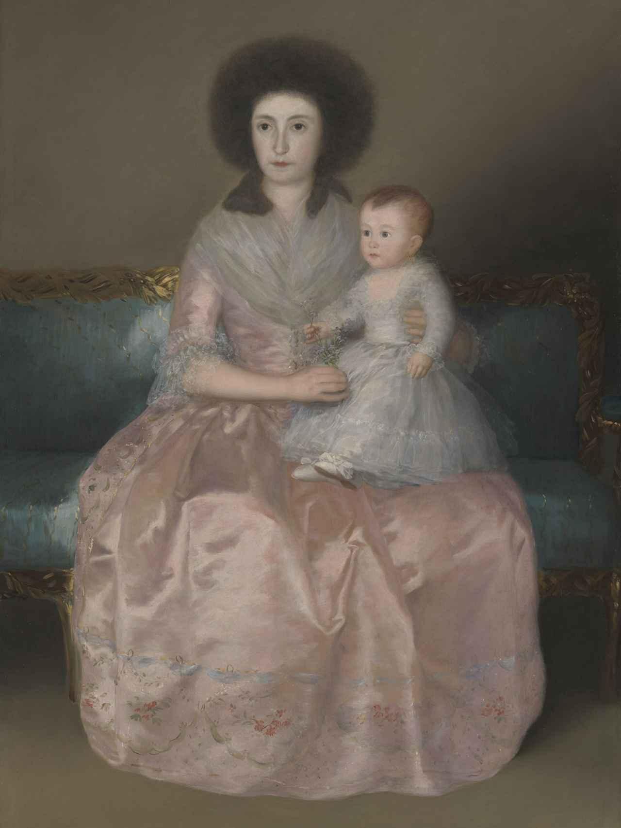 Detalle de 'La condesa de Altamira y su hija María Agustina' (1787-88)