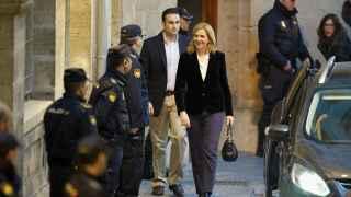 La infanta Cristina a su salida de la Audiencia de Palma en febrero de 2014