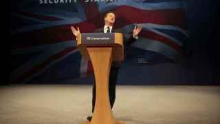 Cameron ante el congreso anual de su formación.