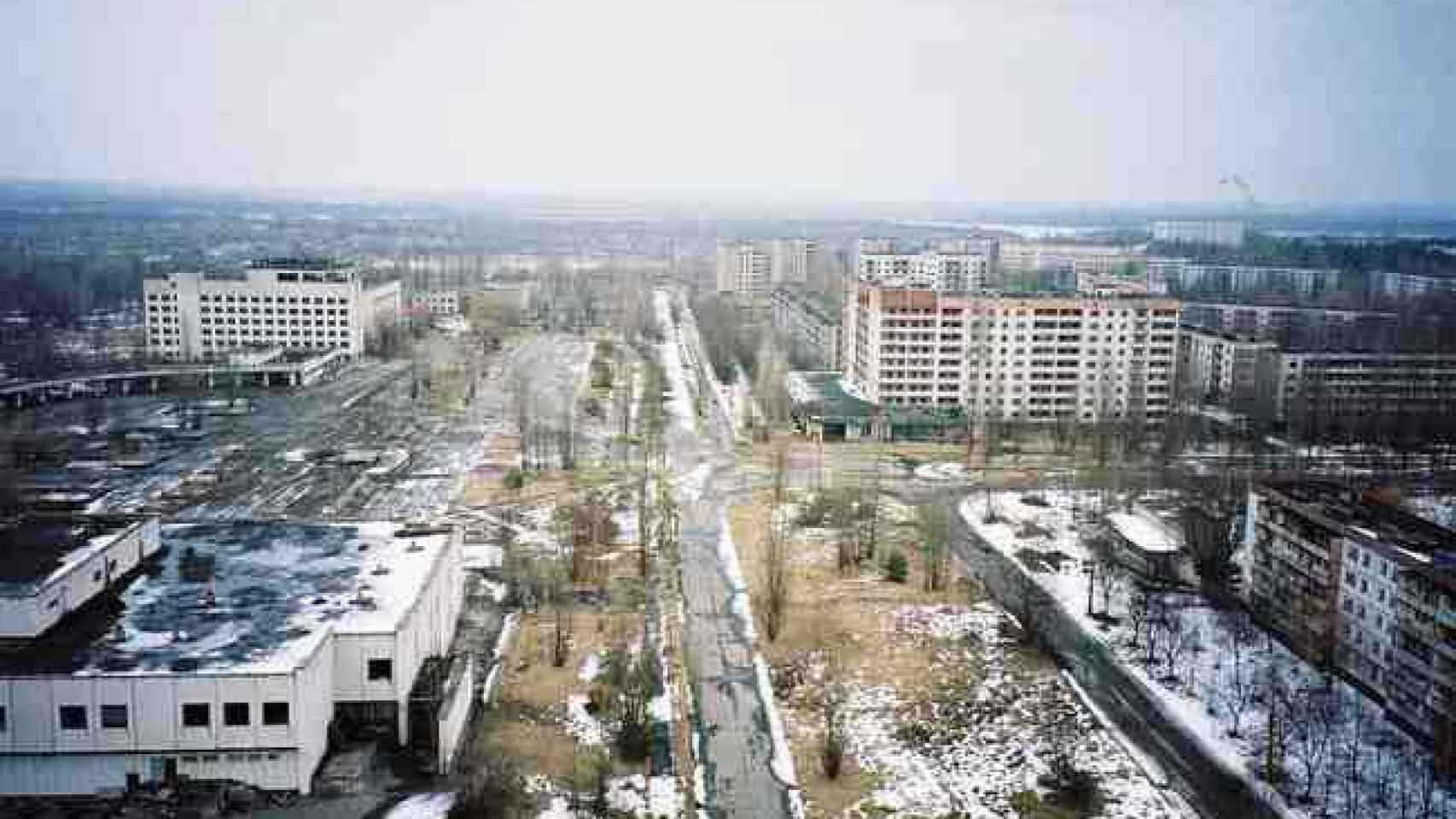 Ciudad de Prípiat, donde residían los trabajadores de Chernóbil.