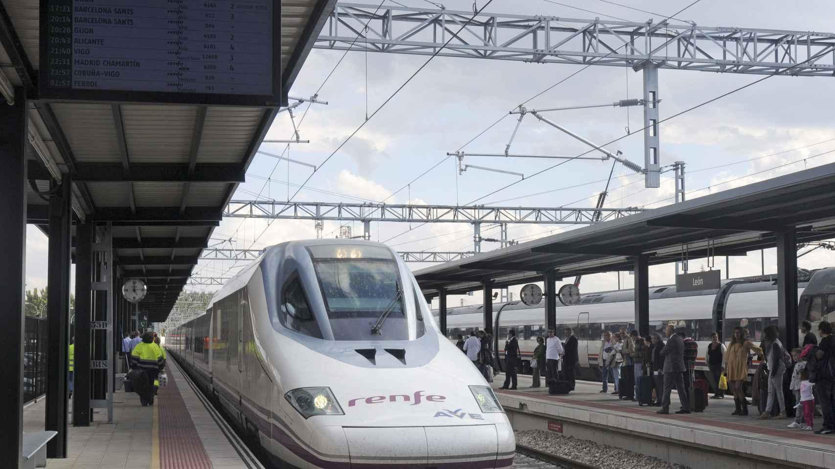 Un tren de la alta velocidad española.