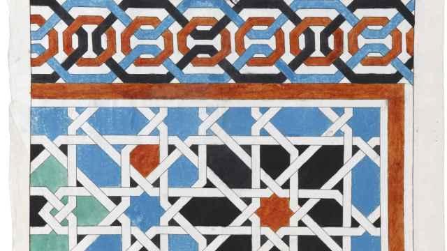 Zócalo dibujado por Sánchez Sarabia