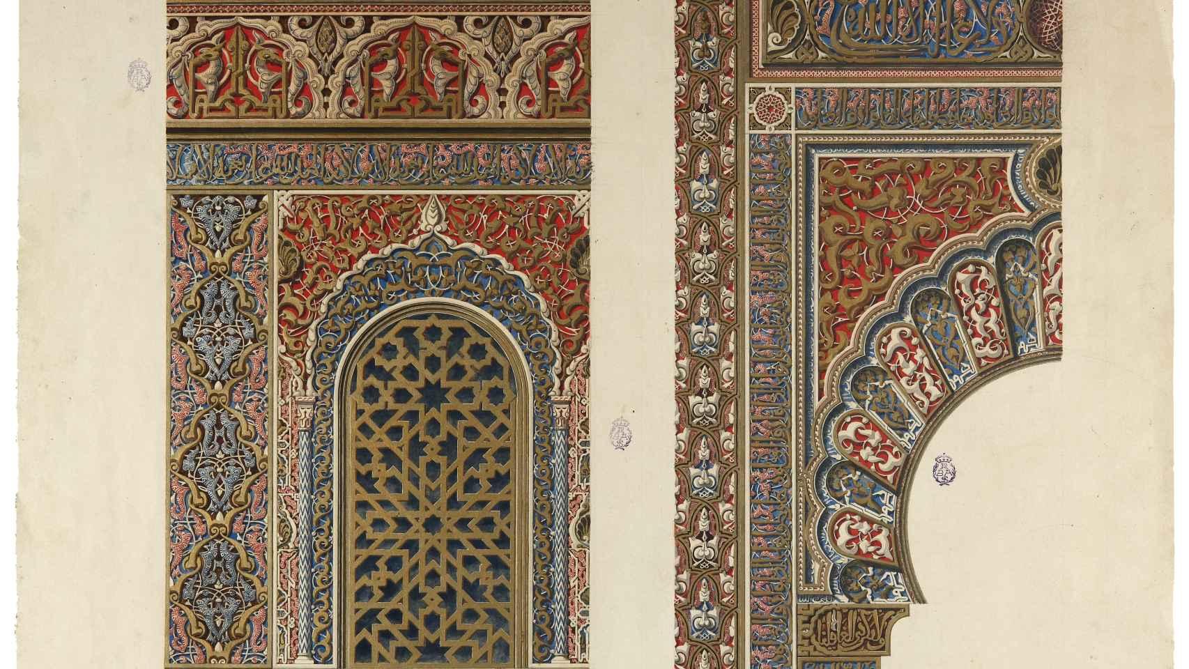 Qibla Partal dibujada por R.Contreras.