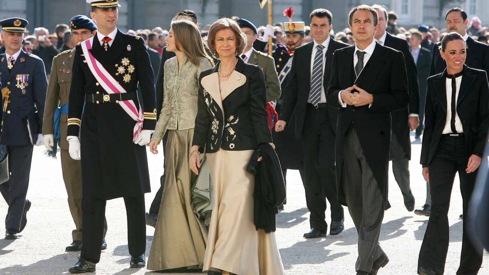 Carme Chacón y la Familia Real en la Pascua Militar de 2009