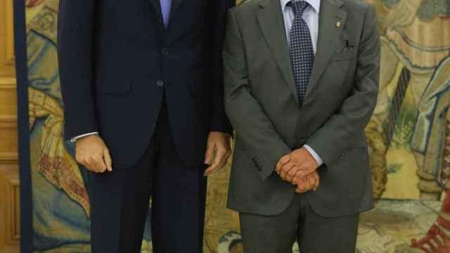 Miguel Ángel Revilla en Zarzuela con Felipe VI