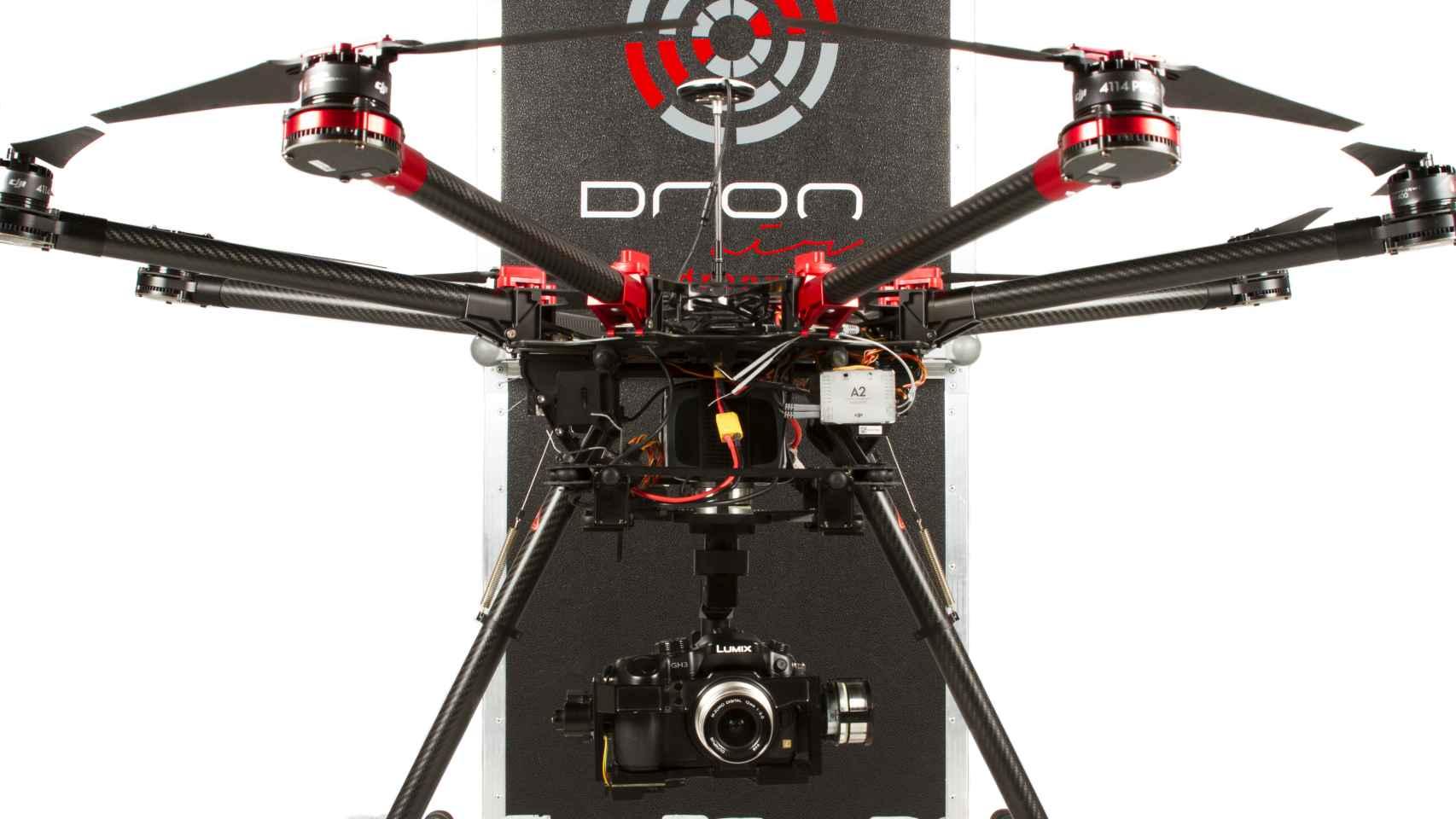 Ejemplo de dron profesional.
