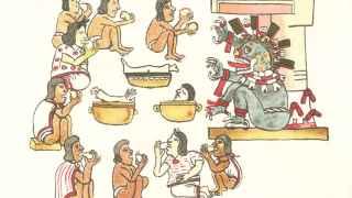 Escena de canibalismo en el Códice Magliabechano (siglo XVI)