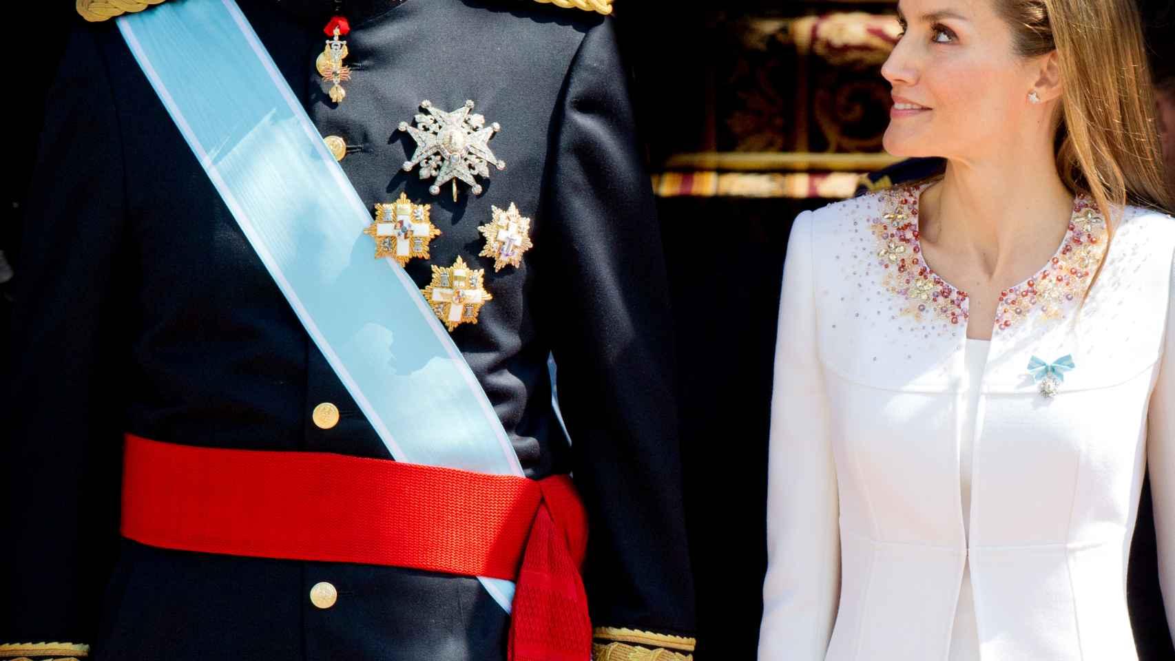 Felipe VI y Doña Letizia el día de su proclamación