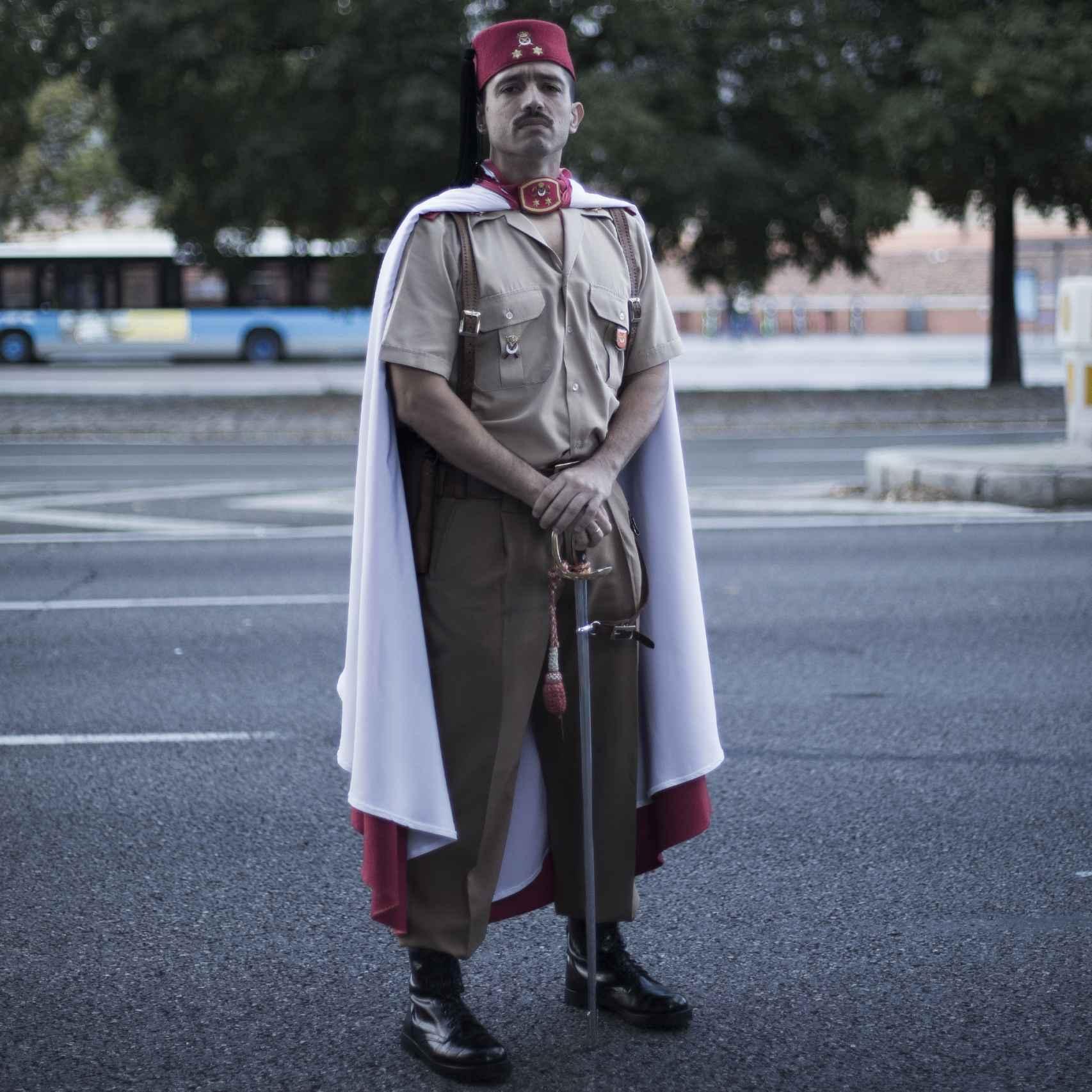 Daniel Andrades, teniente de los Regulares.