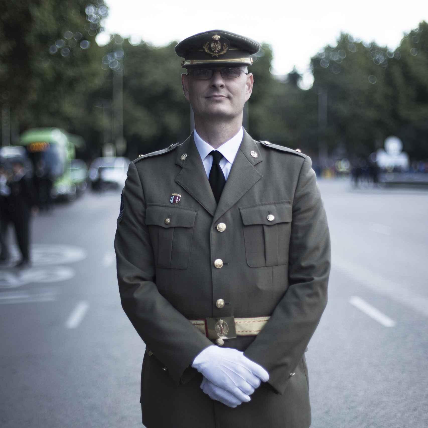 Manuel Flores, reservista del Ejército.