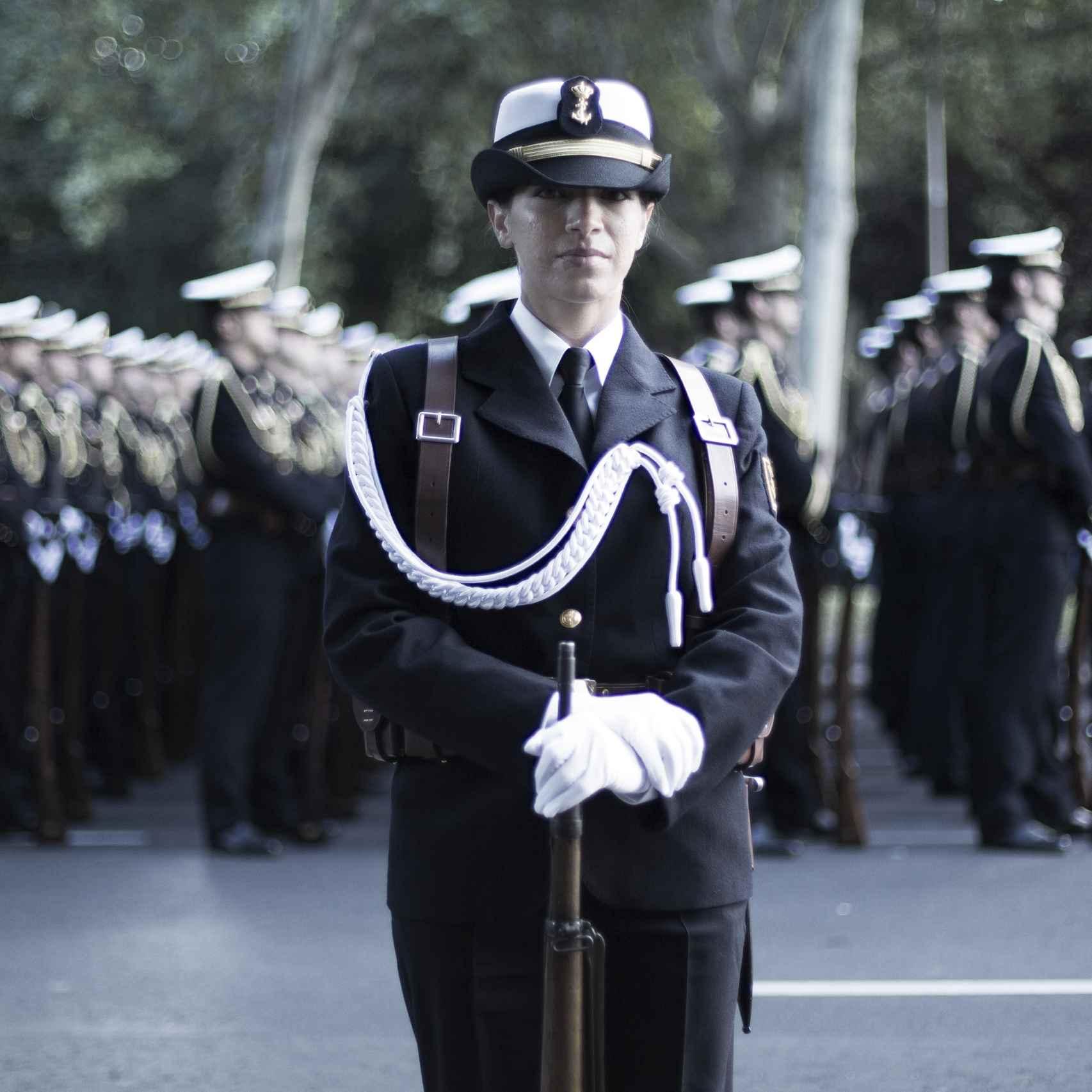 Zara Armas, de la Escuela de Suboficiales de la Armada.