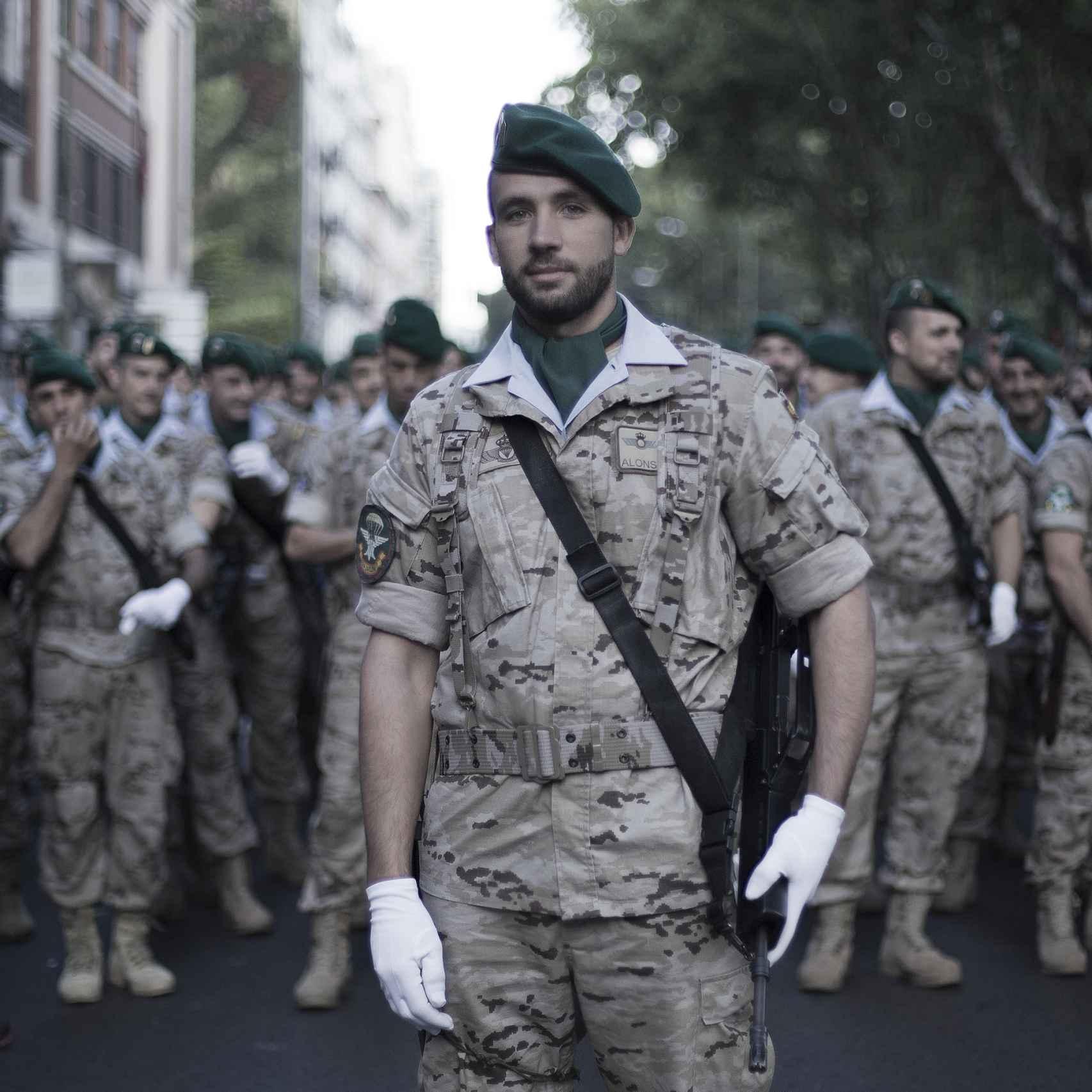 Marcos Alonso, cabo de la Brigada de Zapadores Paracaidistas.