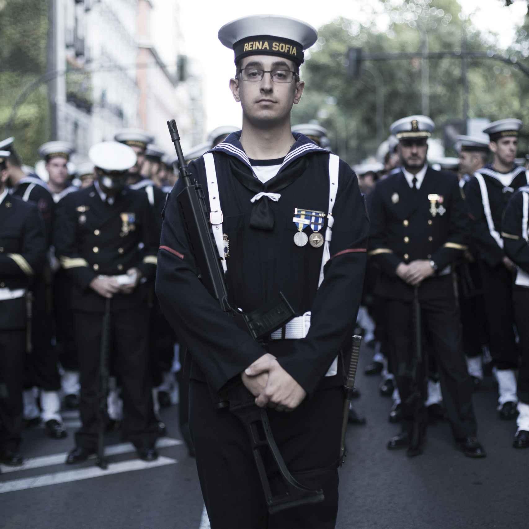 Víctor Lallana, marinero de la Flota de la Armada.