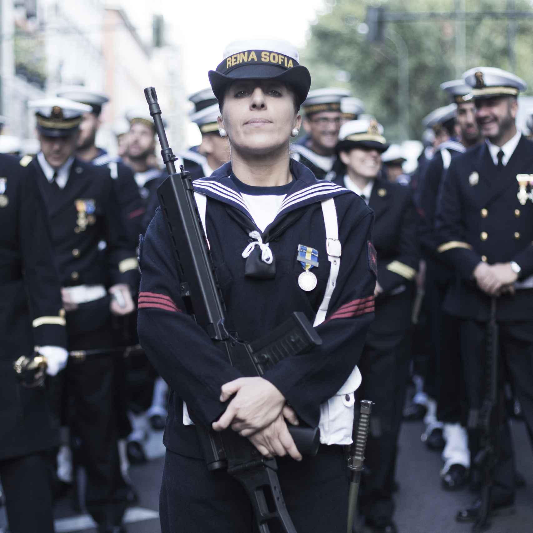 Cristina Rodríguez, cabo de la Flota de la Armada.