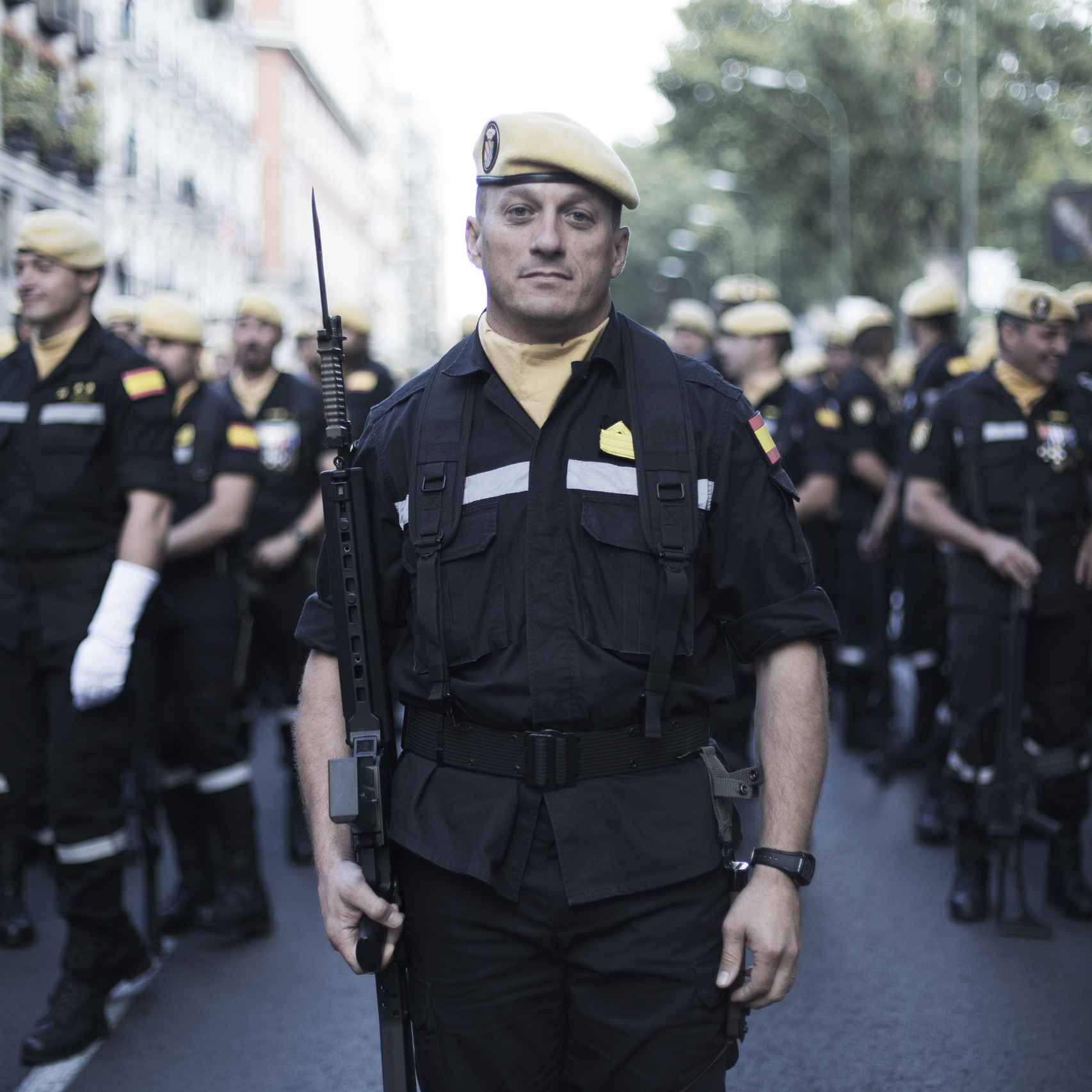 Miguel Ángel Cortés, sargento primero de la Unidad Militar de Emergencias.