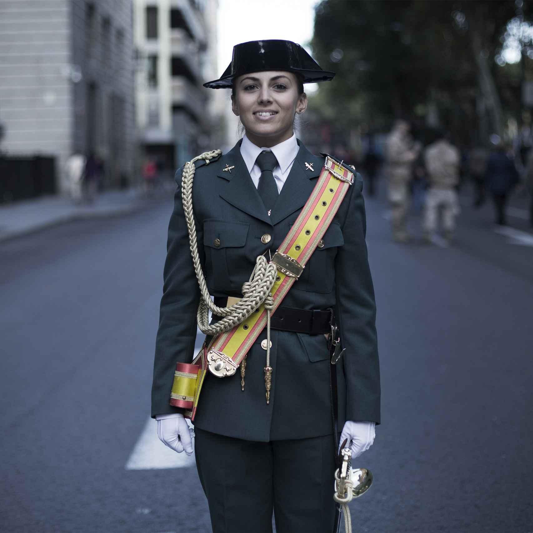 Laura López, quinto año en la Academia de la Guardia Civil.