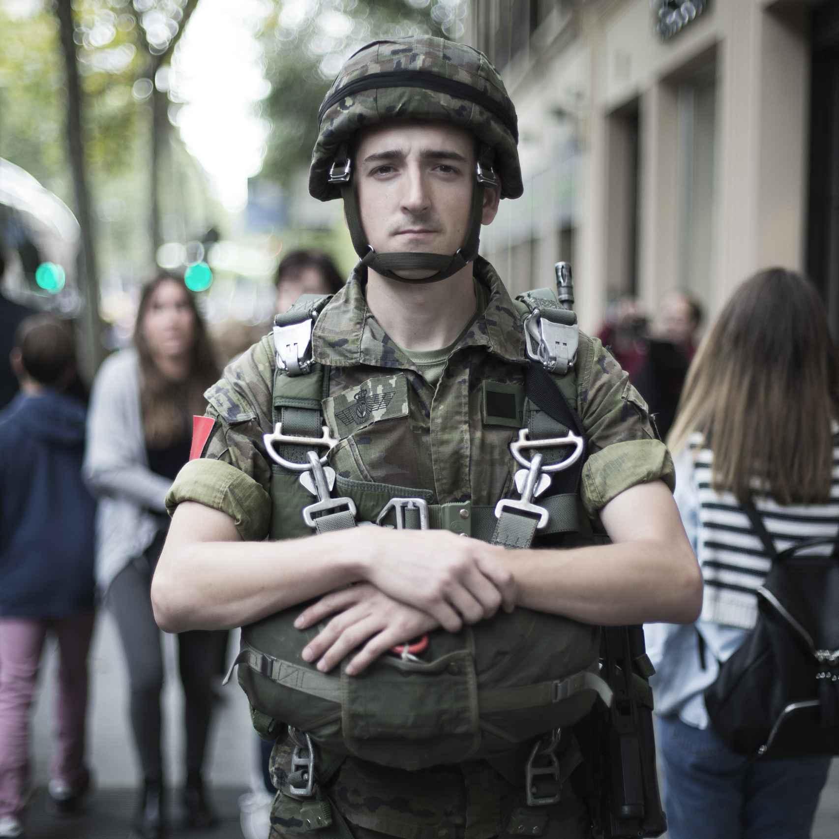 Fernando Villanova, sargento de la Brigada de Paracaidistas.