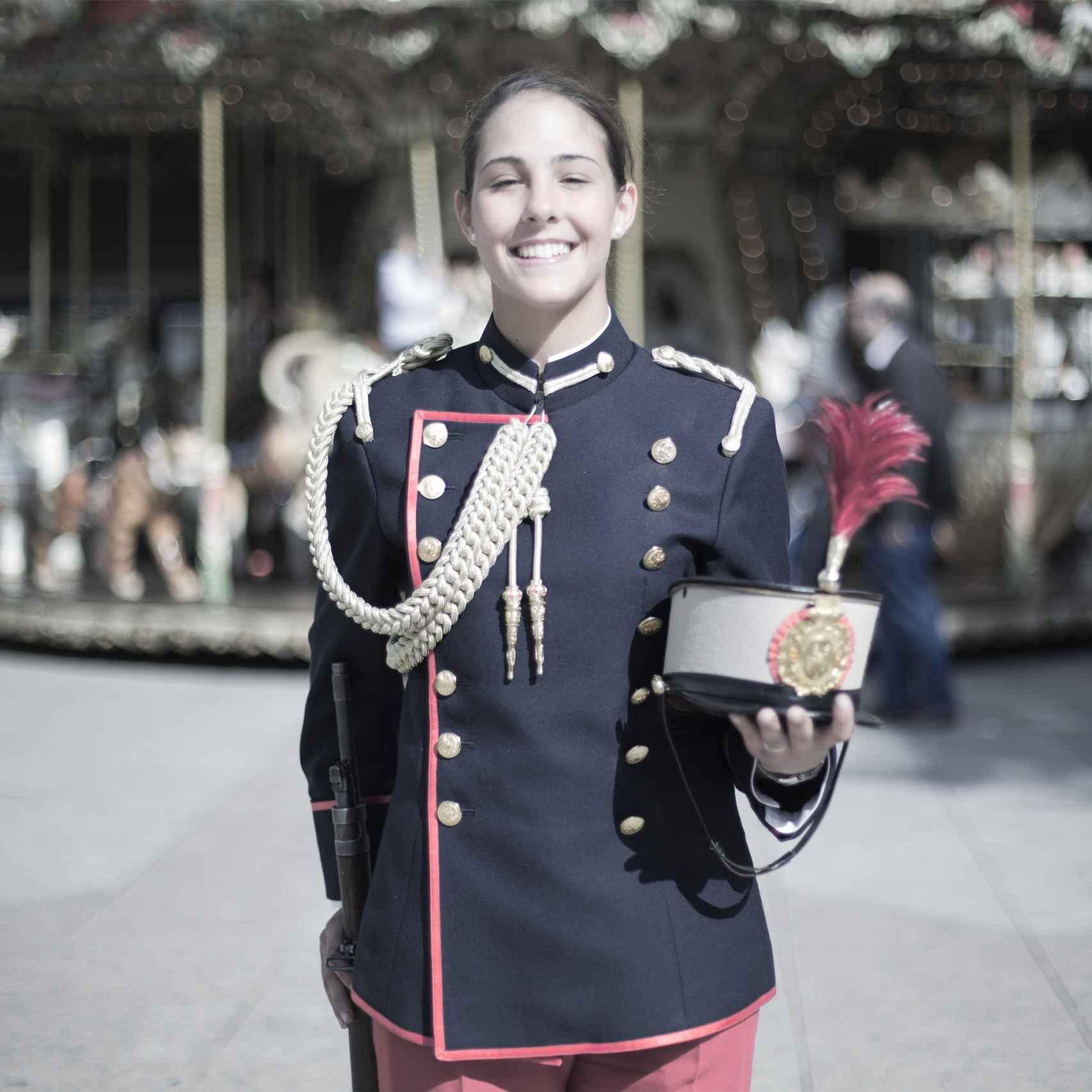 Isabel Ortiga, primer año en la Academia General Militar.