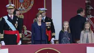 La Familia Real contempla en el Día de la Hispanidad 2015