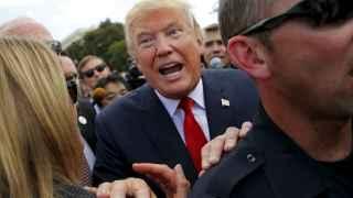 Donald Trump, durante un acto de su campaña en septiembre