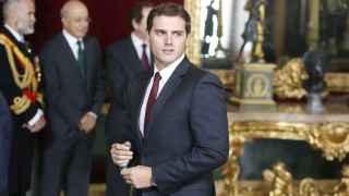 Albert Rivera, en la recepción con los reyes en el Palacio Real