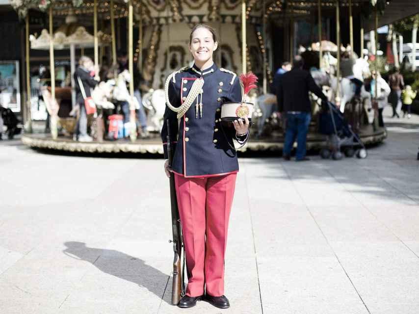 Isabel Ortiga Montilla posa para EL ESPAÑOL tras el desfile.