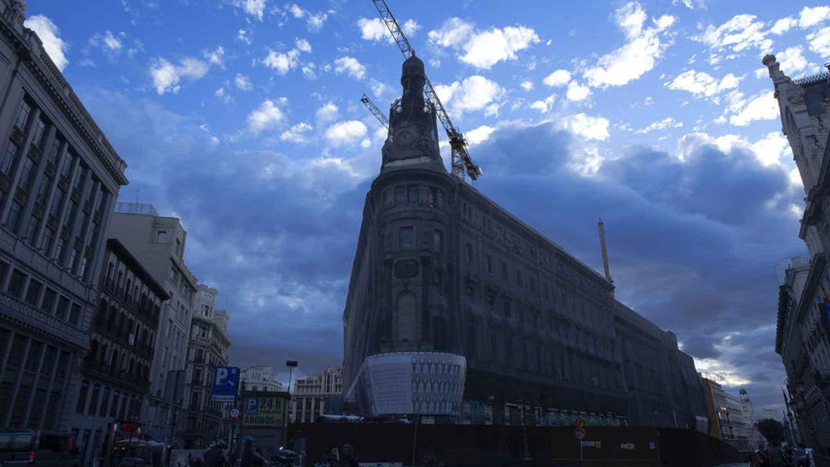 Fachada del complejo Canalejas en Madrid