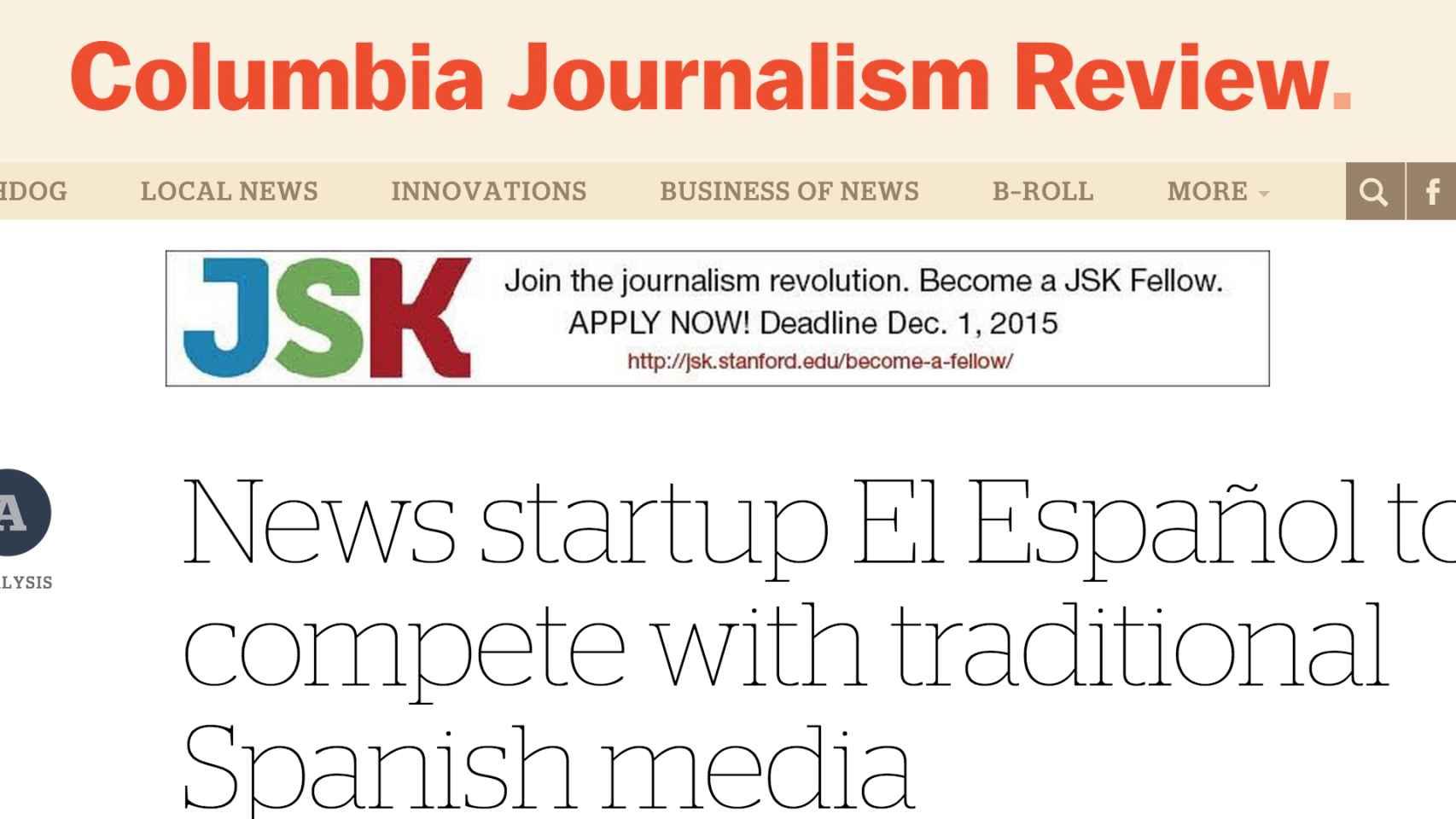 Artículo de la 'Columbia Journalism Review'.