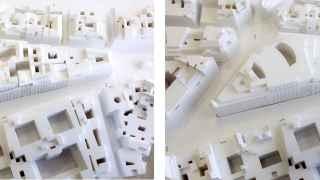 Maqueta del complejo Canalejas, rectificada en su altura.