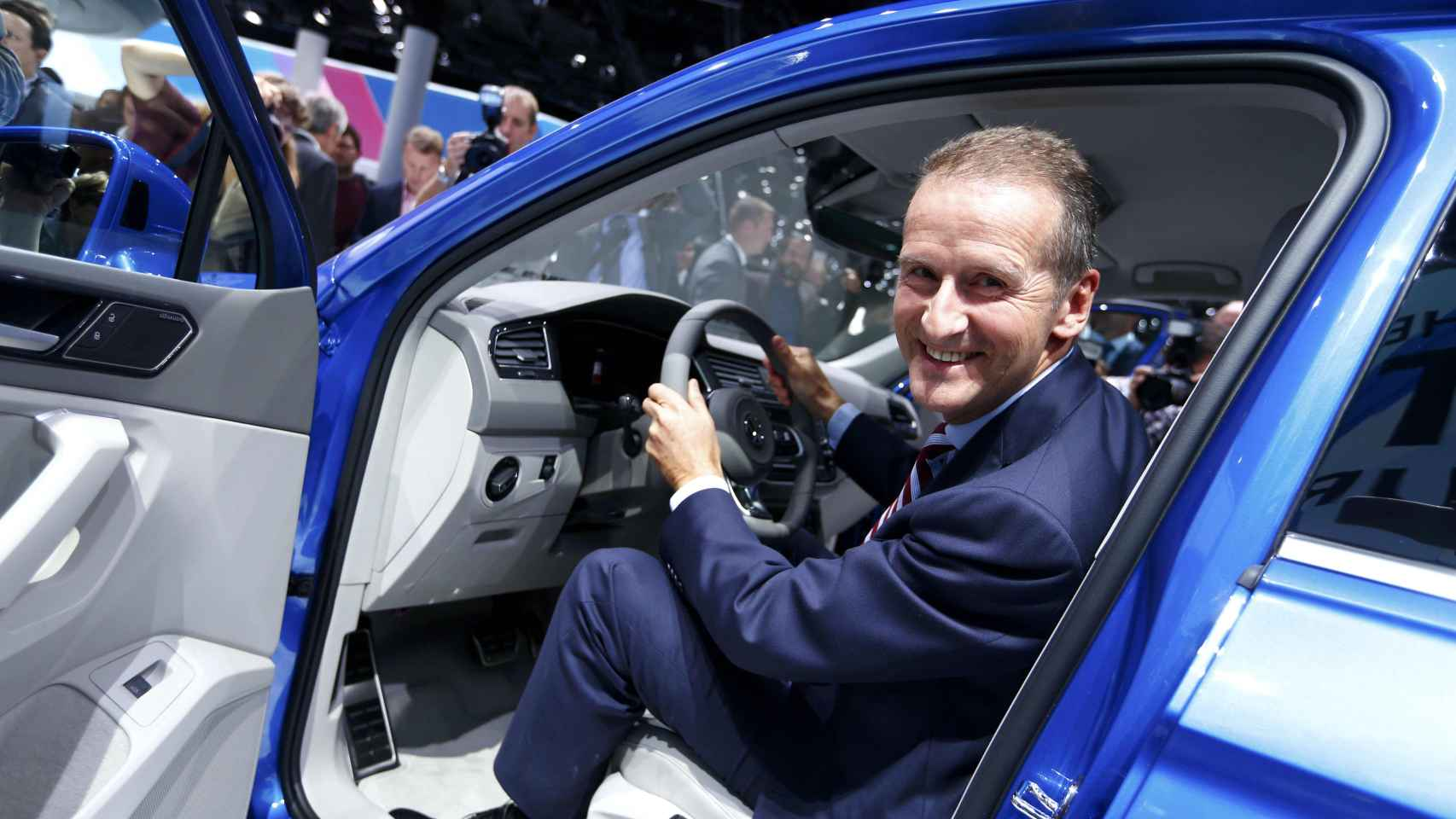 El presidente de la marca Volkswagen, Herbert Diess
