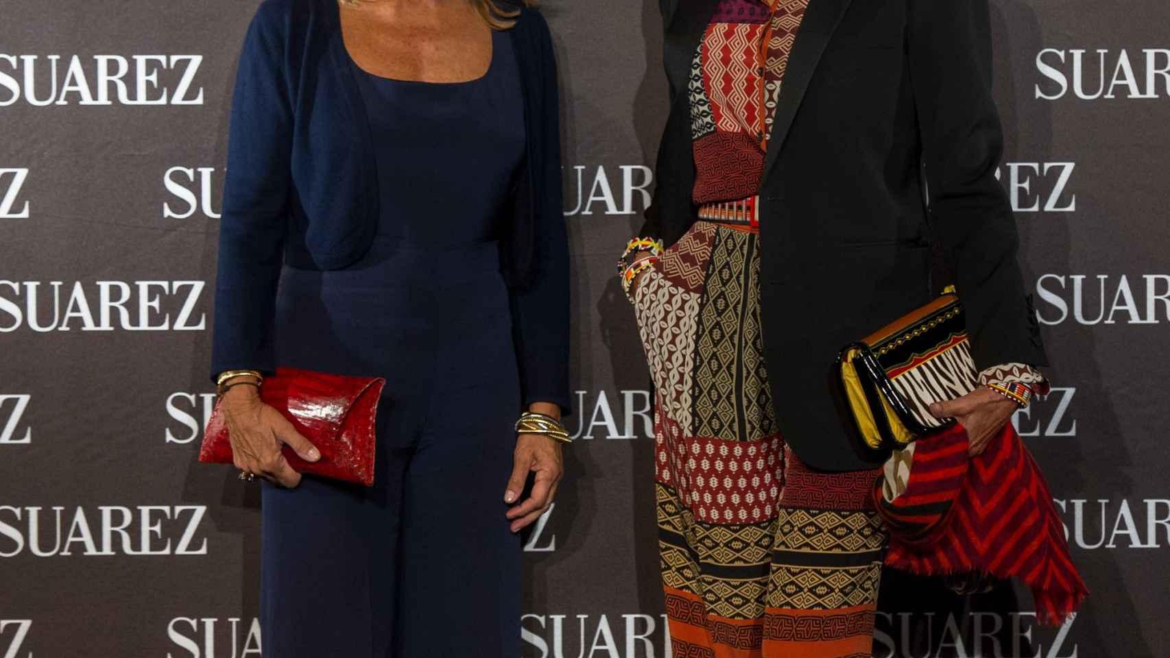 Cari Lapique y Naty Abascal en la inauguración de la joyería Suárez