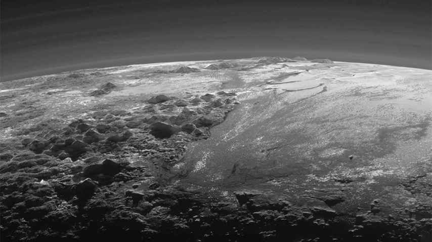 Una de las imágenes de Plutón obtenidas por la misión New Horizons