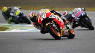 El de Honda, por delante de Lorenzo y Rossi en el GP de Japón.