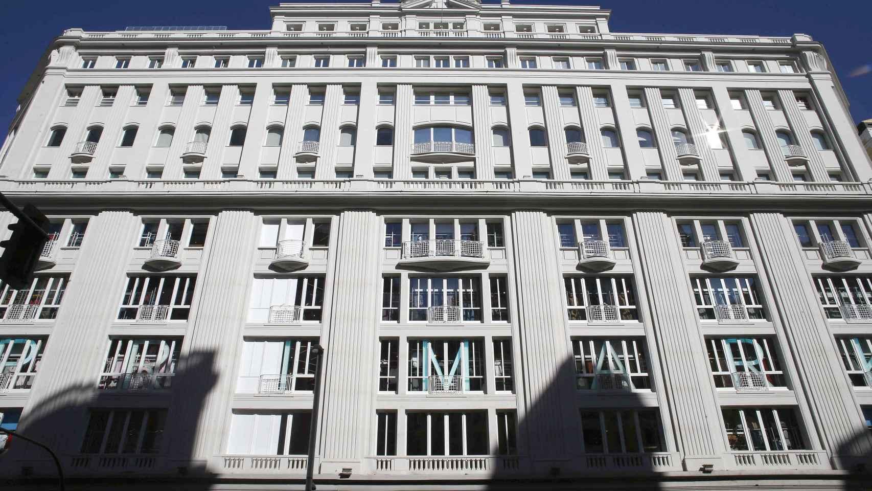 Exterior de la tienda de Primark en Gran Vía 32, Madrid