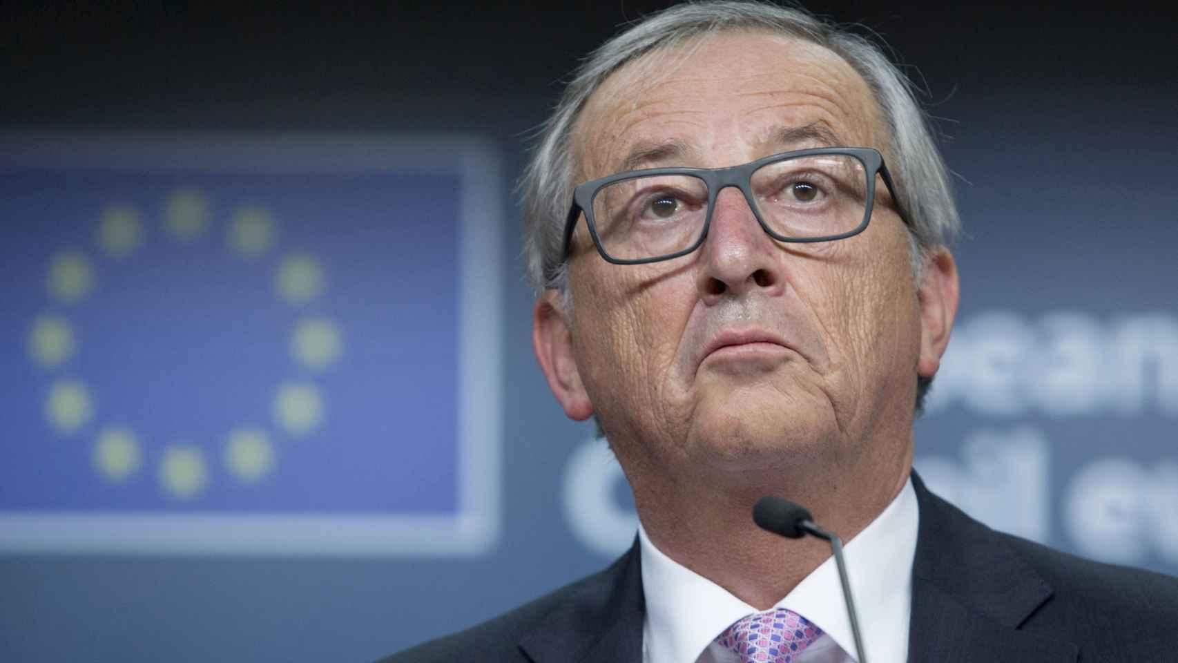 El presidente de la Comisión Europea, Jean Claude Juncker, tras la reunión de líderes europeos. / REUTERS