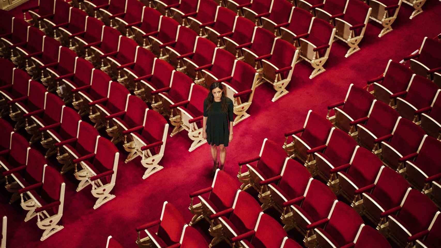 María Hervás, en una de las piezas, en el Teatro María Guerrero