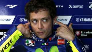 Rossi en el box de Phillip Island