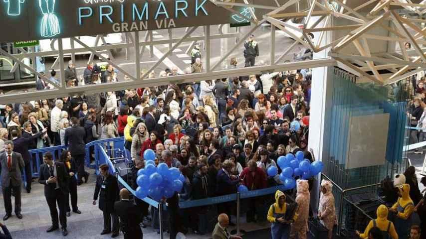 Apertura de Primark en la Gran Vía de Madrid.