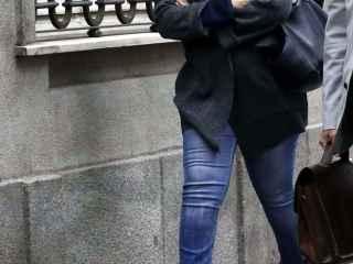 Juliana Fernández de la Cueva,  a su llegada al Tribunal Supremo.