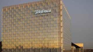 Exterior de la sede de Telefónica en Madrid