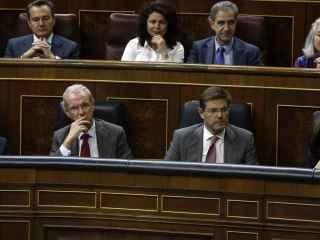 Rafael Catalá, este martes en el banco azul del Congreso