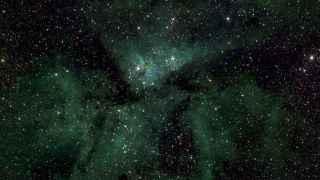 Detalle de la Vía Láctea, en la que se muestra el sistema Eta Carinae